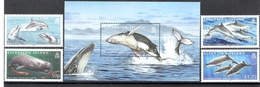 Ascension Island 2009 Whales & Dolphins + MS MNH CV £13.55 - Ascension