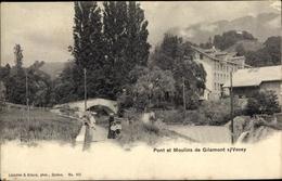 Cp Vevey Kt. Waadt Schweiz, Pont Et Moulins De Gilamont - VD Vaud