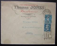 1926 Les Spécialités De Thomas Jones Parfumeur 25 Rue De La Boëtie Paris, Lettre Pour Vienne (Autriche) - Storia Postale