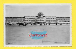 CPSM  ֎ AEROPORT  ֎ LE BOURGET DUGNY - AVION Air France Bloch MB.220 ֎ Peu Commune ֎ Terrasse Pleine Spectateurs - Aerodromi