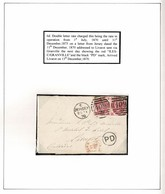 GREAT BRITAIN JERSEY 3d PAIR FRANCE GRANVILLE LIVAROT 1870 EARLY DATE - 1840-1901 (Victoria)