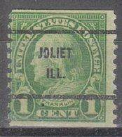 USA Precancel Vorausentwertung Preo, Bureau Illinois, Joliet 597-61 - Vereinigte Staaten