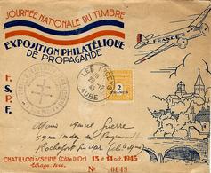 1945- Enveloppe ILLUSTREE Des Riceys ( Aube ) Affr. N° 709 SEUL  Expo Phil. De Propagande - Marcophilie (Lettres)