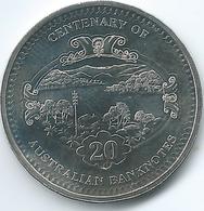 Australia - Elizabeth II - 20 Cents - 2013 - Centenary Of Banknotes - 5 Pounds - KM1962 - Decimal Coinage (1966-...)