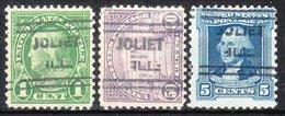 USA Precancel Vorausentwertung Preo, Locals Illinois, Joliet 631, 3 Diff. Perf. 11x10 1/2 - Vereinigte Staaten
