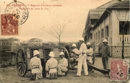 Tonkin - Cochinchine - Viet-Nâm - Saigon - 5e Régiment D'Artillerie Coloniale - Manoeuvre Du Canon De 75 - Viêt-Nam