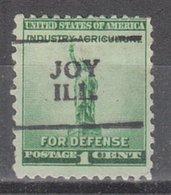 USA Precancel Vorausentwertung Preo, Locals Illinois, Joy 701 - Vereinigte Staaten