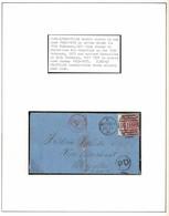 GB JERSEY FRANCE WINE PORT MARSEILLES GRANVILLE 1871 MISSING YEAR RAILWAY - 1840-1901 (Victoria)