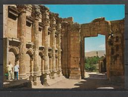 POSTCARD LEBANON INTERIOR OF BACCHUS TEMPLE - Libanon