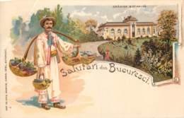 Roumanie - Suvenir Din Bucuresci - Grâdina Botanica - Pli En Haut à Gauche - Roumanie