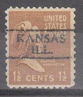 USA Precancel Vorausentwertung Preo, Locals Illinois, Kansas 728 - Vereinigte Staaten