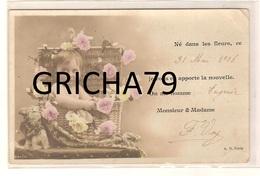 FAIRE PART NAISSANCE ANCIEN - EUGENIE 1906 - Naissance & Baptême