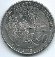 Australia - Elizabeth II - 20 Cents - 2013 - Centenary Of Canberra - KM2080 - UNC - Decimal Coinage (1966-...)