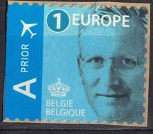 Belgique 2013 Utilisé Sur Fragment Réutilisable Used Roi Philippe Bleu Europe - Belgien