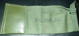 HOUSSE BG-108 ANTENNE RADIO MP 48 JEEP WILLYS, DODGE,  ARMEE FRANCAISE,LA BASE EST EN CUIR , DIMENSION 36 CM X 16 CM , E - Radios
