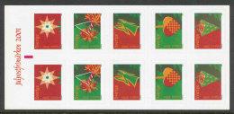 SUEDE 2001 - CARNET  YT C2241 - Facit 2275/2280 - Neuf ** MNH -  Noël - Carnets
