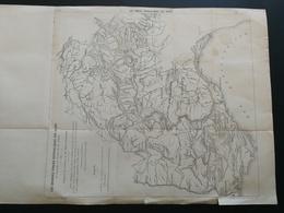 ANNALES PONTS Et CHAUSSEES (France,Italie,Autriche) - Plan Des Forces Hydrauliques Des Alpes Imp L.Courtier 1900 (CLA82) - Cartes Marines