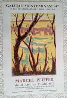 AFFICHE ANCIENNE ORIGINALE EXPOSITION 1972 M. PFEIFFER Galerie Montparnasse - Affiches
