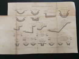ANNALES PONTS Et CHAUSSEES  - Plan Des Eaux Des Canaux D'Irrigation Graveur E.Pérot 1882 (CLA83) - Cartes Marines