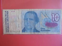 ARGENTINE 10 AUSTRALES 1985-89 CIRCULER - Argentine