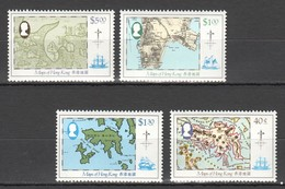 W364 HONG KONG GEOGRAPHY MAPS !!! MICHEL 22 EURO !!! 1SET MNH - Géographie