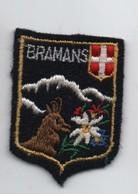 Ecusson Tissu Ancien/ Brodé/BRAMANS/ Savoie/Vers 1960-1980    ET242 - Ecussons Tissu