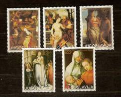 Yougoslavie Joegoslavie 1983 Yvertn° 1897-1901 *** MNH Cote 3 Euro Art Tableaux Paintings - 1945-1992 République Fédérative Populaire De Yougoslavie