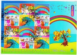 BOX756 UNO WIEN 2002 MICHL 367/70 KLEINBOGEN Used / Gestempelt SIEHE ABBILDUNG - Wien - Internationales Zentrum