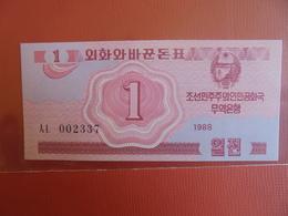 COREE(NORD) 1 CHON 1988 PEU CIRCULER/NEUF - Korea, North