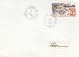 LETTRE COVER TAAF. VERSO CACHET ARRIVEE - Französische Süd- Und Antarktisgebiete (TAAF)