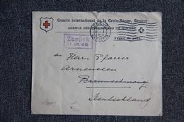 SUISSE - GENEVE, 1914 /1918 : Comité Internationale De La Croix Rouge, Agence Des Prisonniers De Guerre - Historical Documents