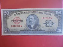 CUBA 20 PESOS 1958 CIRCULER - Cuba
