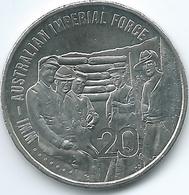 Australia - Elizabeth II - 20 Cents - 2015 - Australian Imperial Force - Decimal Coinage (1966-...)