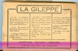 19/4 Belgique Carnet Booklet Complet 10 Cartes COLORISEES BARRAGE GILEPPE - Jalhay