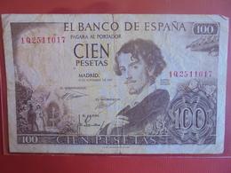 ESPAGNE 100 PESETAS 1965 CIRCULER - 100 Pesetas