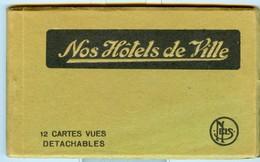 19/4 Belgique Carnet Booklet Complet 10 Cartes HOTELS DE VILLE BRUXELLES GAND ANVERS ..... - Belgique