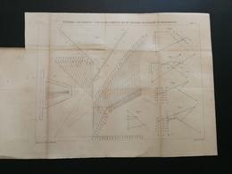 ANNALES DES PONTS Et CHAUSSEES (Dep 13)-Plan Des Méthodes Graphiques De Déblais Et Remblais Graveur E.Pérot 1882 (CLA84) - Technical Plans