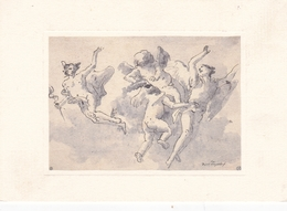 Giovanni Battista Tiepolo Mercury With Two Cherubs And An Angel Postcard Used Good Condition - Pintura & Cuadros