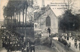 Braine-L'Alleud - Ophain-Bois-Seigneur-Isaac - Procession De Saing-Sang - Carte Dédoublée - Braine-l'Alleud