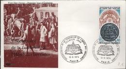 FDC 399 - FRANCE N° 1801 Hôtel Des Invalides Sur FDC 1974 - FDC