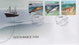 Australia 2019 Sustainable Fish FDC - Premiers Jours (FDC)