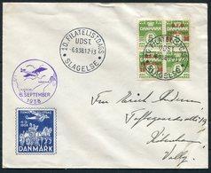 1938 Denmark Slagelse - Copenhagen Filatelistdags Stamp Day Flight Cover. - Covers & Documents