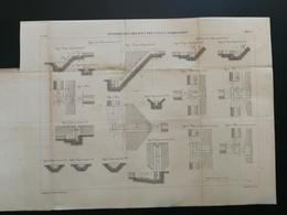 ANNALES DES PONTS Et CHAUSSEES -Plan Des Distributions Des Eaux Des Canaux D'irrigation Graveur E.Pérot 1882 (CLA85) - Cartes Marines
