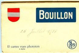 19/4 Belgique Carnet Booklet Complet 10 Cartes BOUILLON CHATEAU PONT TRAM TRAIN - Bouillon