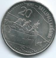 Australia - Elizabeth II - 20 Cents - 2015 - Gallipoli Landing - Decimal Coinage (1966-...)