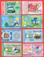 Kazakhstan . City Karaganda. Lot Of Eight Monthly Tickets. Plastic. - Season Ticket