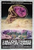 AFFICHE ANCIENNE ORIGINALE EXPOSITION 1979 LE CNRS ET LA PREHISTOIRE MUSEUM NATIONAL D'HISTOIRE NATURELLE - Beau Dessin - Manifesti