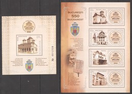 H032 2009 ROMANIA ARCHITECTURE BUCHAREST 550 1BL+1KB MNH - Architecture