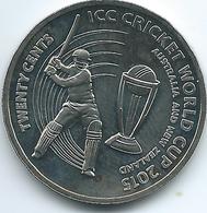 Australia - Elizabeth II - 20 Cents - 2015 - ICC Cricket World Cup - Only 50,000 Minted - Monnaie Décimale (1966-...)