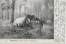 1 Postcard - 1903 - Rare - Melbourne Victoria Australia  Selectors Camp At Daudenong Amp 2 Stamps 20 - Melbourne